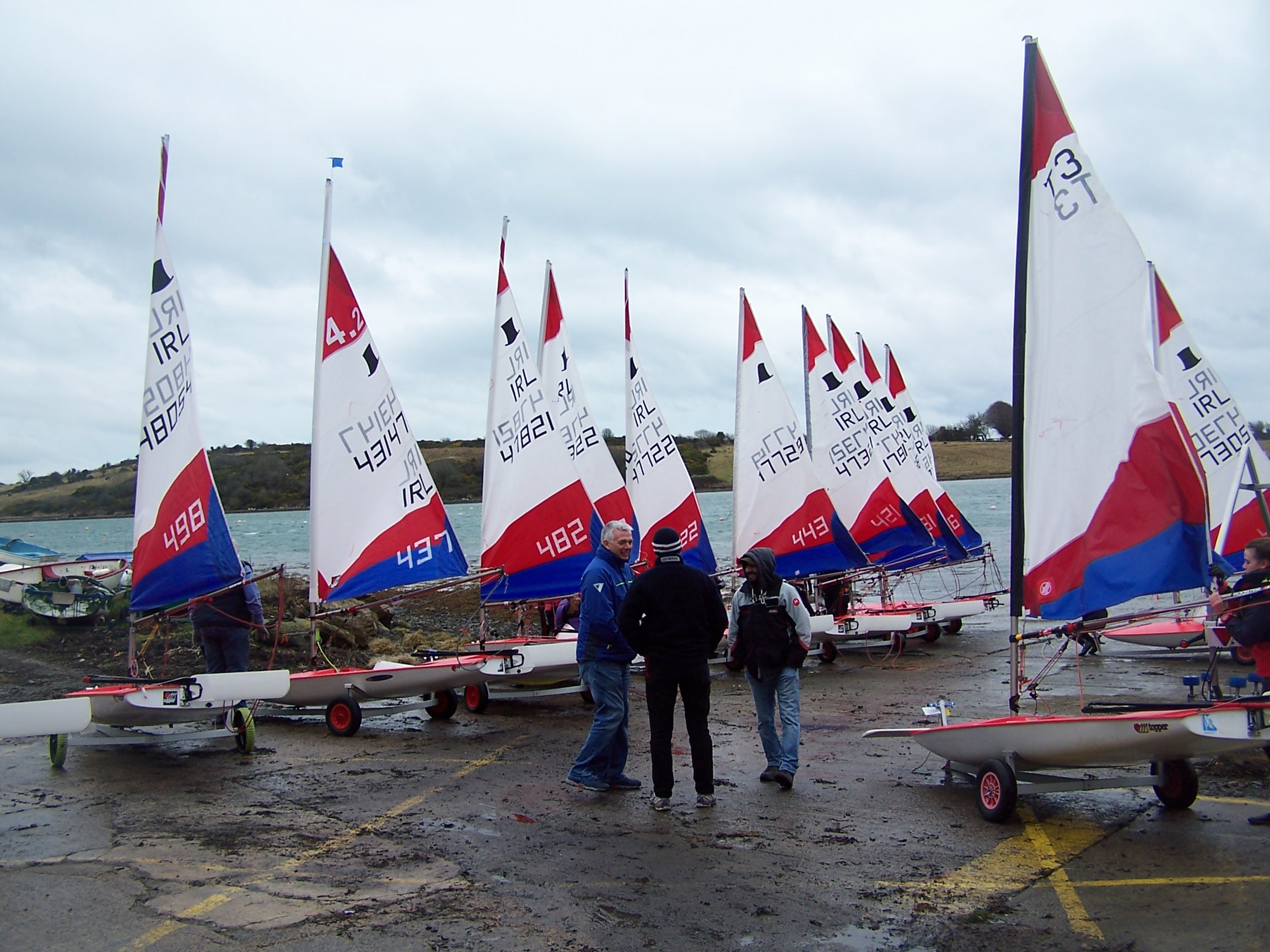 Toppers on slip preparing to launch at EDYC